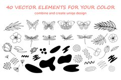 Organic natural seamless pattern set Product Image 9