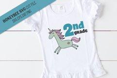 2nd Grade Unicorn SVG Cut File Product Image 1