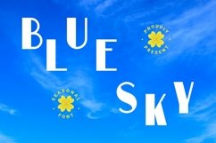 Web Font Blue Sky Font Product Image 1