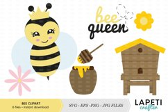 Cute bee vector clipart and illustrations collection Product Image 1