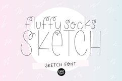 """FLUFFY SOCKS"" Sketch Font - Single Line/Hairline Font Product Image 1"