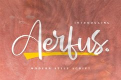 Aerfus | Modern Style Script Product Image 1