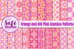 Orange and Hot Pink Seamless Patterns Product Image 1
