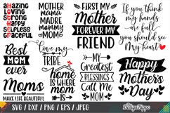 Mom Quotes SVG Bundle, 20 Designs, SVG PNG DXF Cutting Files Product Image 2