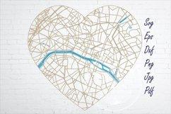 Paris France city road map svg, eps, dxf, png, jpg Product Image 1