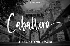 Web Font Caballero - Calligraphy Font with Swash Product Image 1