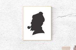 Gentleman Head Silhouette - Clipart, Illustration,Graphic Product Image 3