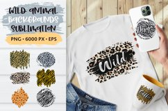 Animal Print Sublimation Background PNG, Distressed Leopard Product Image 1