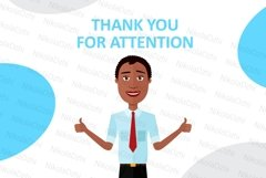 African men Character people Cartoon vector collection flat Product Image 3