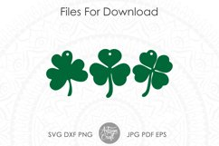 Clover earrings, St Patrick's day earrings, SVG cut file Product Image 3