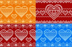 10 knitted hearts seamless patterns Product Image 4