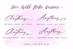 Anything Script || 8 Fonts Product Image 5