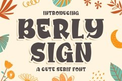 Berly Sign - a Cute Serif Font Product Image 1