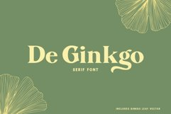 De Ginkgo Font Product Image 1