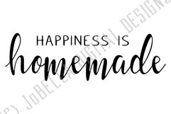 Happiness Is Homemade SVG, Sublimation PNG & Printable Product Image 2