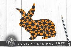 Easter Bunny SVG Easter Clipart SVG Buffalo Plaid Bunny SVG Product Image 6