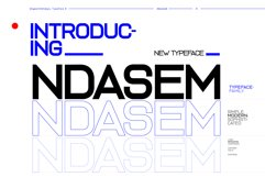 Ndasem Typeface Product Image 1