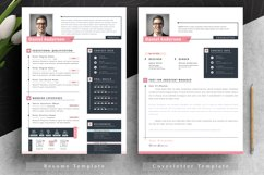 Modern Editable Resume Cv Template in Word Apple Pages Product Image 3
