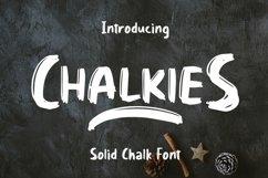 Web Font Chalkies - Solid Chalk Font Product Image 1