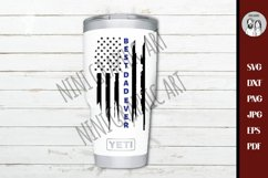 Police dad, Thin blue line Best dad ever USA flag svg, Product Image 3