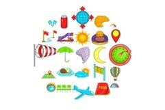 Airborne icons set, cartoon style Product Image 1