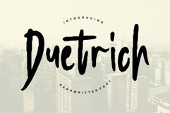 Web Font Duetrich - Handwritten Font Product Image 1