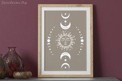 Sun and moon, sun svg cut file, boho svg, celestial svg Product Image 3
