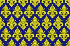 Seamlessly tiling fleur-de-lis pattern Product Image 2