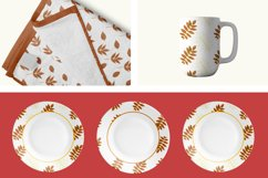 Autumn watercolor leaves pattern, seamless. Product Image 4