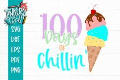 100 Days of Chillin' Ice cream School SVG Product Image 2
