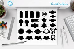 Labels SVG, Price Tag Label svg files for Silhouette Cameo and Cricut. Label clipart PNG included, clipart PNG transparent Product Image 1