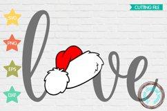 Valentines Love Santa Hat SVG Product Image 1