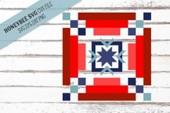 Americana Strippy Barn Quilt SVG Cut File Product Image 1