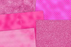 Hot Pink Foil Textures Digital Paper Product Image 2