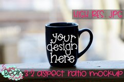 Mug on Railing Mockup Product Image 1