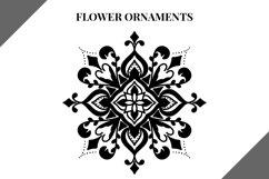 Flower Ornaments svg file, svg bundle, mandala flowers Product Image 2