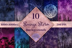Savage Storm Backgrounds - 10 Image Textures Set Product Image 1