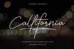 Callifornia   Handwritten Signature Font Product Image 1