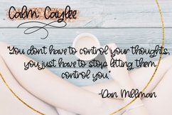 Calm Caylee Script Font Product Image 2