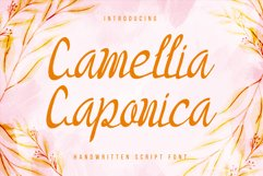 Camellia Caponica - sweet and cursive handwritten font. Product Image 1