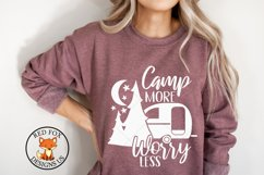 Camp More Worry Less svg   Camping SVG   DXF PNG Product Image 1