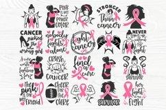 Breast Cancer SVG Bundle, Cancer Survivor Svg, Pink Ribbon Product Image 2