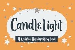 Web Font Candle Light - Handwriting Font Product Image 1
