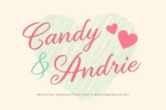Web Font Candy & Andrie Font Product Image 1