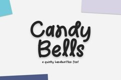 Web Font Candy Bells - a quirky handwritten font Product Image 1