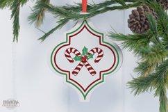 Arabesque Tile Christmas Ornament SVG Bundle Product Image 3