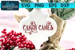 Candy Canes SVG Cut File   Christmas SVG Cut File Product Image 1