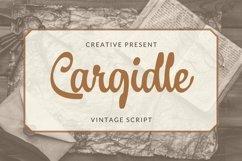 Web Font Cargidle Font Product Image 1