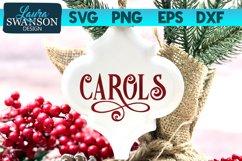 Carols SVG Cut File | Christmas SVG Cut File Product Image 1