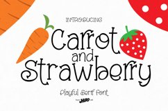 Carrot and Strawberry Font Product Image 1